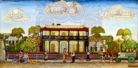 A Famous Key West Landmark by Mario Sanchez, KWAHS Collection 1987.01.3210