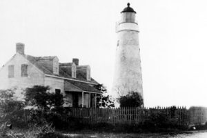 Photograph of the Key West Lighthouse prior to the addition which made it taller, 1887