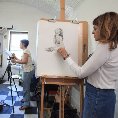 AAnnamarie Giordano's (right) Life Drawing classes take place from 11am-2pm each Tuesday at Fort East Martello through December 11.