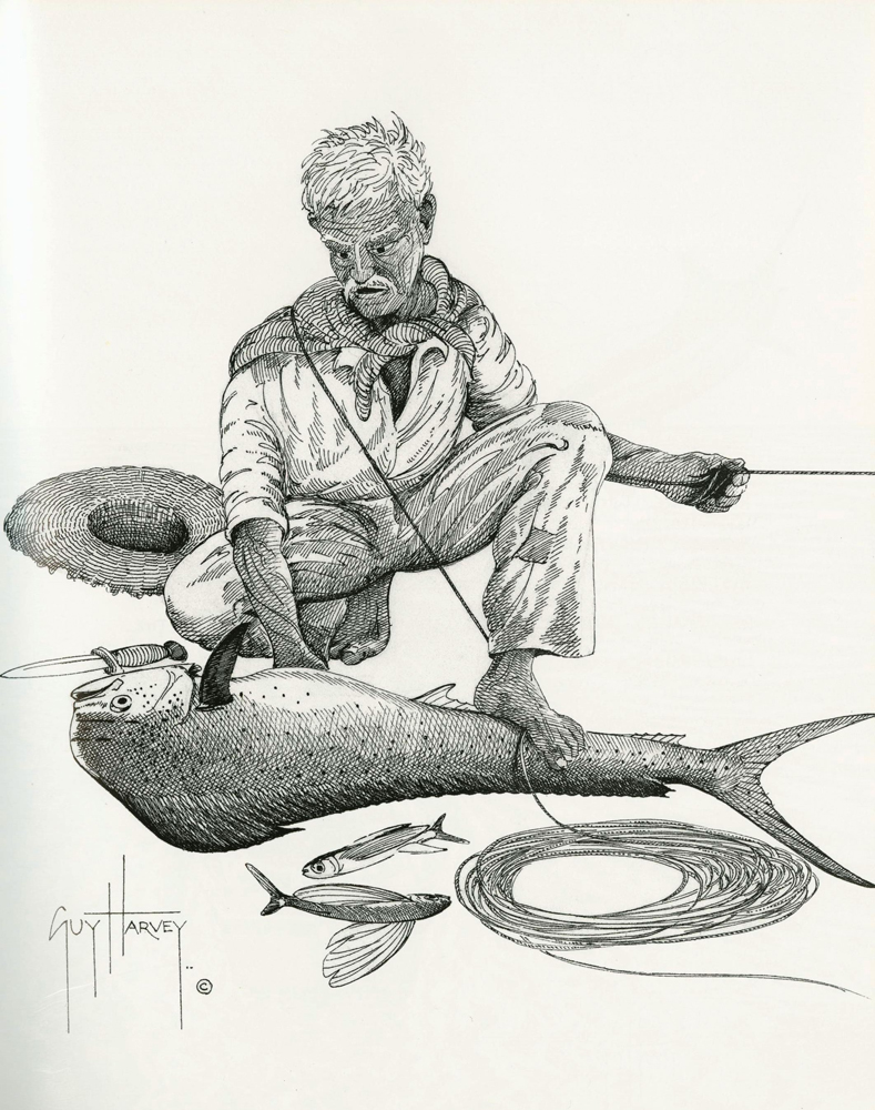 Depicting Hemingway Key West Art And Historical Society Wiring Jaw Shut He Put One Of His Feet On The Fish Slit Him Quickly From Vent Up To Tip Lower Then Knife Down Gutted