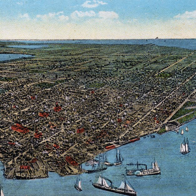 Bird's-Eye View of Key West, 1884
